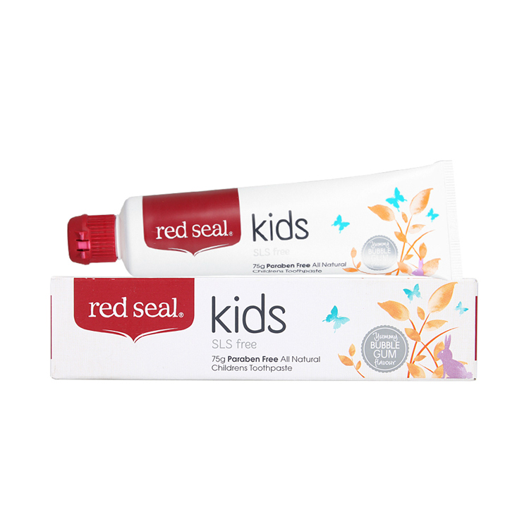 【无氟无泡】新西兰Red Seal 红印天然儿童无氟牙膏 75g