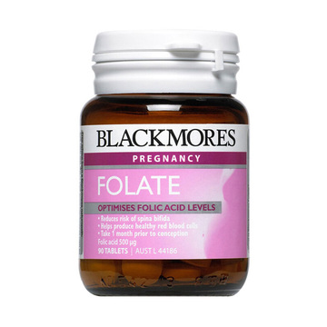 【孕前孕期营养素】澳洲Blackmores 澳佳宝 百丽康美 叶酸片90片