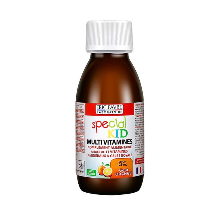 法国Eric Favre艾瑞可 儿童复合维生素营养补充糖浆 125ml 水果味