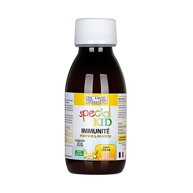 法国Eric Favre艾瑞可 儿童免疫力抵抗力天然营养液糖浆 香蕉果味125ML