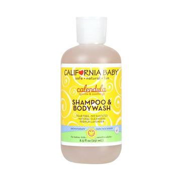 【让宝宝爱上洗澡】美国California Baby加州宝宝金盏花二合一洗发水沐浴露251ml