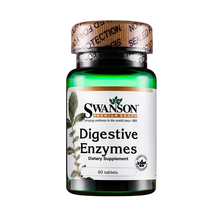[ 肠胃守护神] 美国斯旺森Swanson 消化酶营养片90片