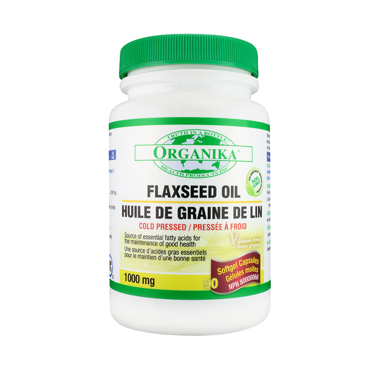 Organika天然亚麻籽油 记忆力心血管*90粒