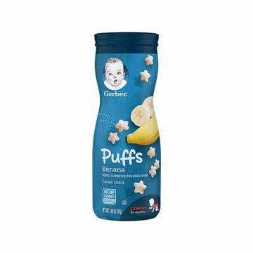 【6罐装】美国嘉宝Gerber星星泡芙3段(8个月以上)香蕉味42g 婴幼儿宝宝辅食