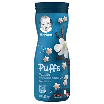 【6罐装】美国Gerber嘉宝星星泡芙3段(8个月以上)42g香草味 婴幼儿辅食