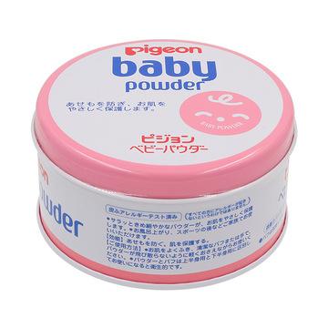 【日本进口】Pigeon 贝亲 婴儿爽身粉 粉盒装 150g 微香型