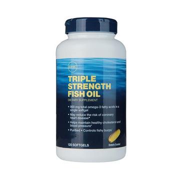 【清洁心血管】美国GNC健安喜 浓缩加强鱼油软胶囊120粒