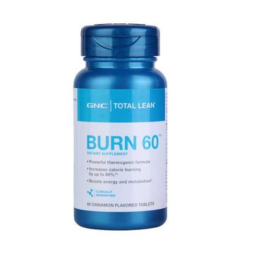 【燃烧脂肪】美国GNC健安喜 BURN60瓜拉纳复合片60粒