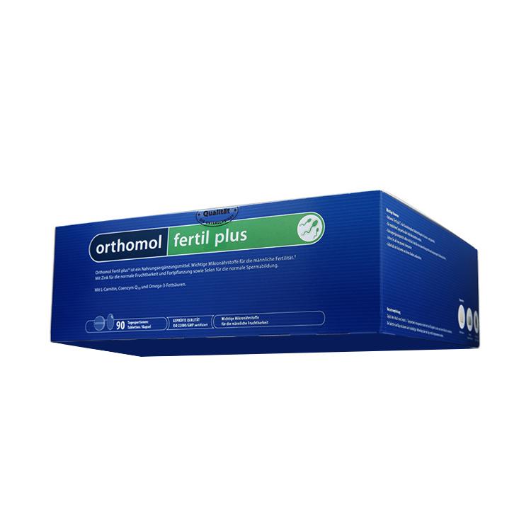 【男性备孕 提高精子活力】德国Orthomol Fertil plus90奥适宝复合番茄红素 90袋