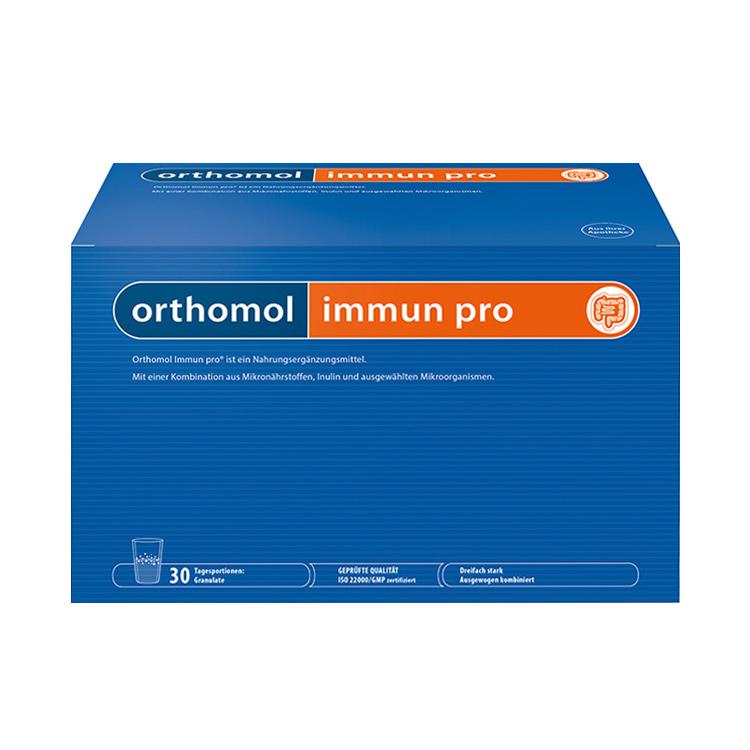 【调理病后食欲】德国Orthomol Immun pro奥适宝益生菌调节肠胃营养冲剂 30袋