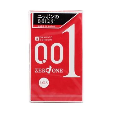 【爱要零距离】OKAMOTO/冈本 0.01安全套 3只装  避孕套
