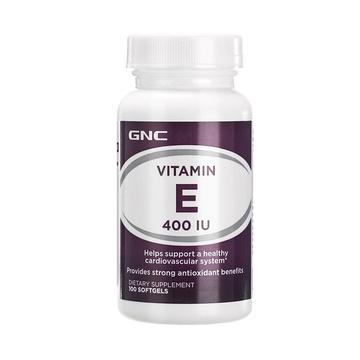 【淡斑抗衰】美国GNC健安喜 维生素E软胶囊400IU*100粒