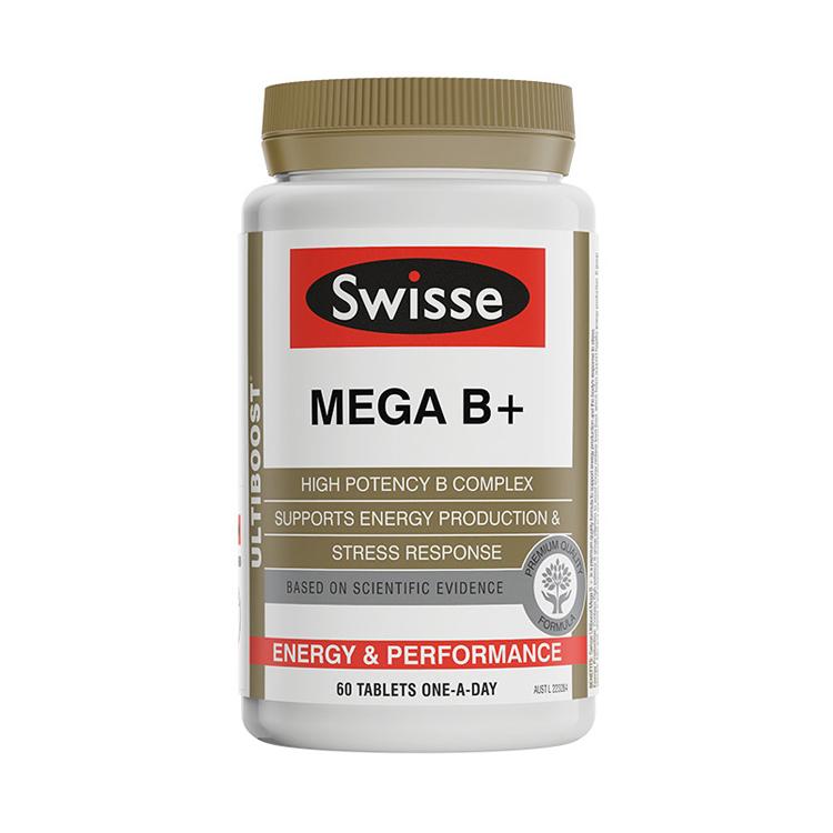 【年终狂欢第3件0元】【缓解疲劳】澳洲Swisse 高强度复合维生素B族 60片/瓶