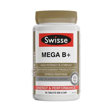 【缓解疲劳和乏力】澳洲Swisse 高强度复合维生素B族 60片/瓶