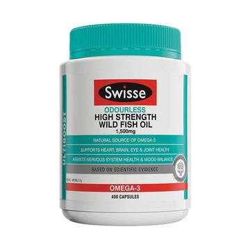 【维持心血管健康】澳洲Swisse 无腥味深海鱼油 1500mg 400粒/瓶
