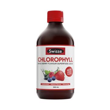 【健康清肠道】澳洲Swisse 叶绿素液  500ml/瓶 梅子味