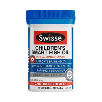 【启智发育身体棒】澳洲Swisse 欧米伽深海鱼油儿童益智咀嚼胶囊 90粒
