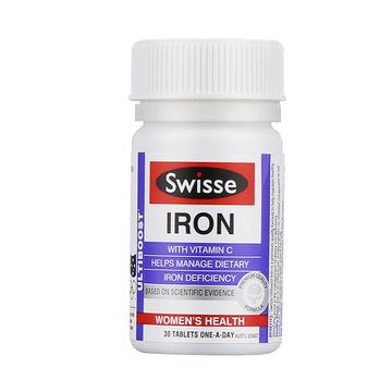 【改善气色 红润肌肤】澳洲Swisse 养血铁元补铁片 30片/瓶
