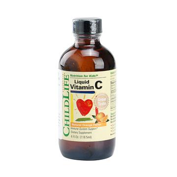 【维生素C|抗感冒 身体棒】美国童年时光Childlife 维生素C营养液 118.5ml