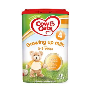 【4罐4段 英国原装】牛栏 婴幼儿奶粉 4段 2-3岁 800g*4罐