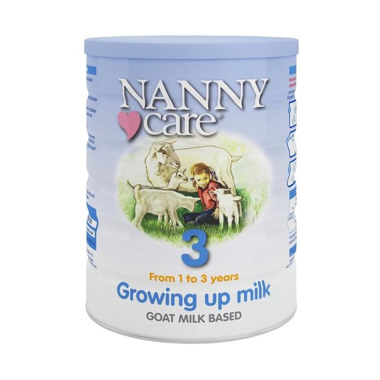 【接近母乳 不易过敏】英国Nanny Care 婴儿羊奶粉 3段 900g/罐*4罐 1-3岁