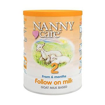 【接近母乳 不易过敏】英国Nanny Care 婴儿羊奶粉 2段 900g/罐*4罐 6-12个月