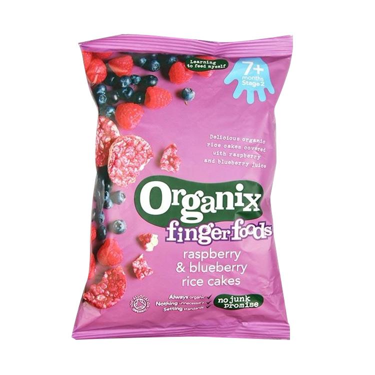【香醇果味 宝宝磨牙米饼】4件装   Organix欧格妮小食覆盆子蓝莓米饼 50g/袋