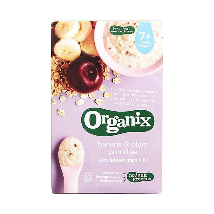 【好吸收易消化】3件装   Organix欧格妮香蕉李子米糊 200g/袋