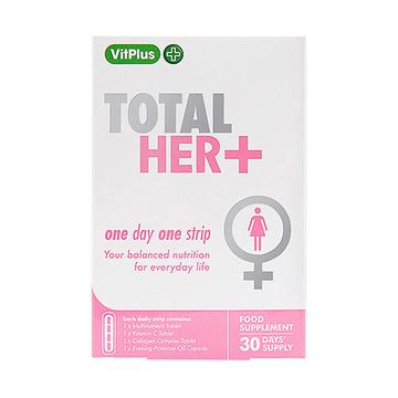 【美颜美肤】VitPlus+ 女士每日口袋营养条 月见草+胶原蛋白+维C+矿物质 30条/盒