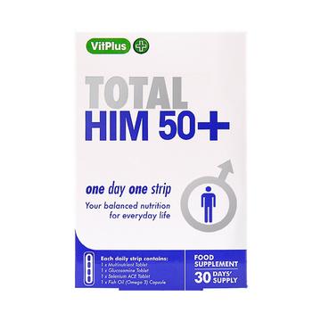 【中年男士营养补充方案】VitPlus 男士50+口袋营养条 30条/盒