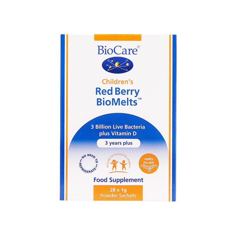 【无需冲泡】BioCare 3岁以上儿童益生菌直饮粉 浆果味 28支/盒