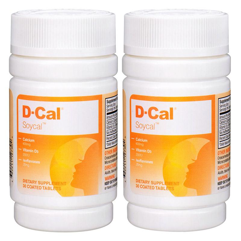 【2瓶】美版迪巧秀源女性片D-Cal迪巧 维D女性钙30片 含大豆异黄酮 中老年女性 更年期