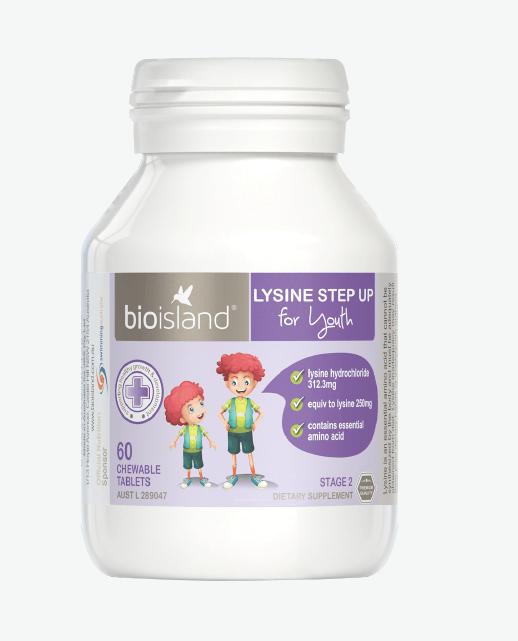 【长高个 增体质】澳洲Bio Island赖氨酸助长素二段60粒-6岁及以上