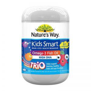 【助消化促大腦發育】Nature's way佳思敏 兒童三種口味魚油 180粒