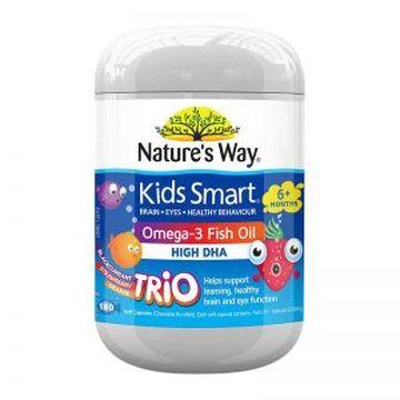 【助消化促大脑发育】Nature's way佳思敏 儿童三种口味鱼油 180粒