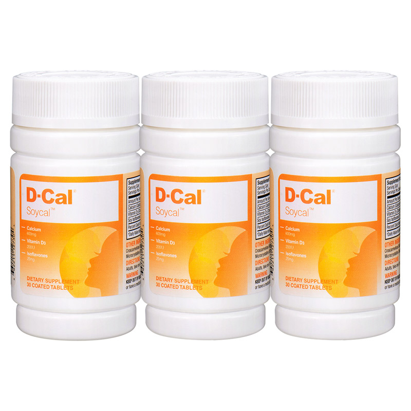 【限量领券跨品牌388减150】3瓶美版D-Cal迪巧秀源维D钙30片 女性大豆异黄酮