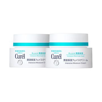 【日本进口 包邮包税】Curel珂润润浸保湿滋养面霜40g*2盒 日本花王