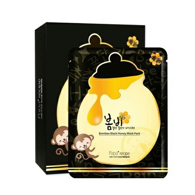 【4盒装】【香港直邮】韩国papa recipe春雨黑色卢卡蜂蜜面膜10片/盒 补水保湿修护