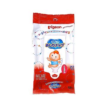 【日本进口】PIGEON 贝亲便携小包装加厚湿巾22片