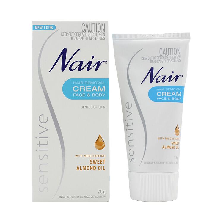 [2件装]【温和脱毛】澳大利亚 Nair 抗敏脱毛膏 75g 男女去腋毛腿毛温和不伤肤
