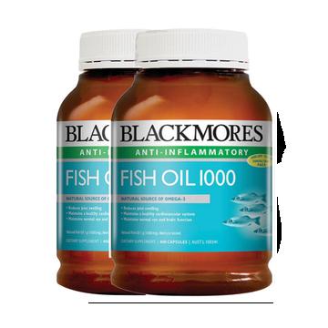 【保护心血管】[2瓶装]澳洲Blackmores 澳佳宝深海鱼油胶囊 400粒/瓶
