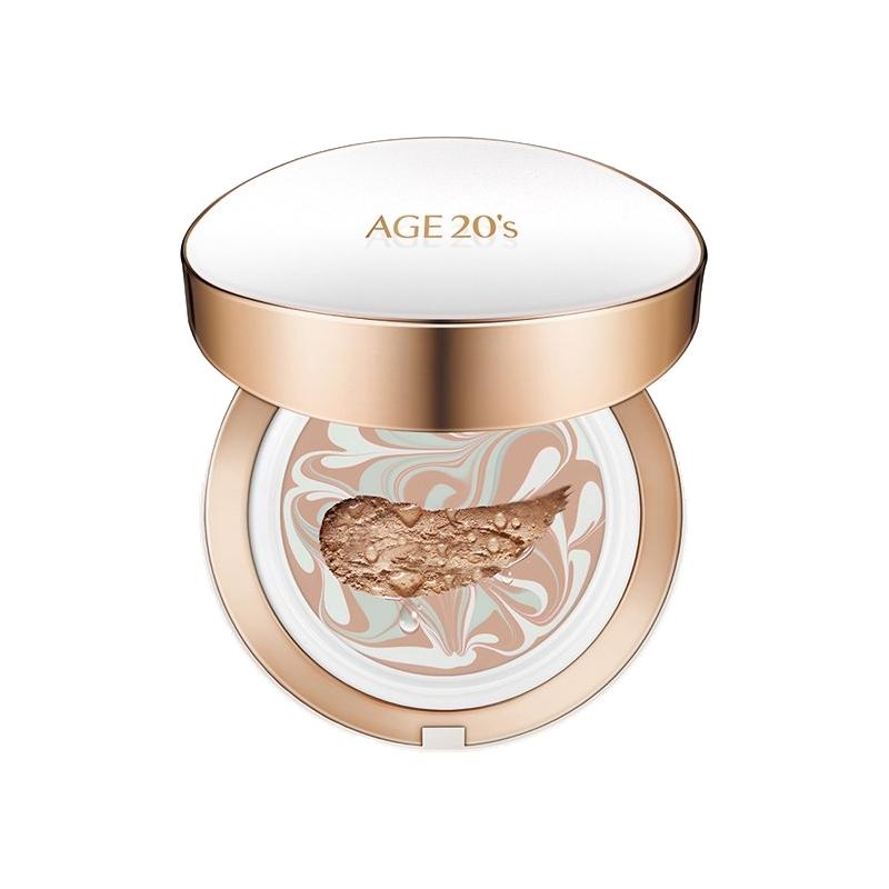 【13#亮白色 輕薄控油】韓國AGE20`s愛紀二十之 愛敬三色流星氣墊BB(白盒)精華粉底+替換裝