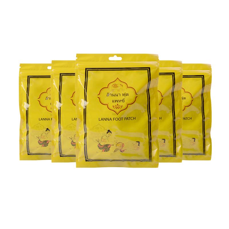 【香港直邮】泰国兰纳lanna足贴 艾草祛湿气安眠养生 10片*5包