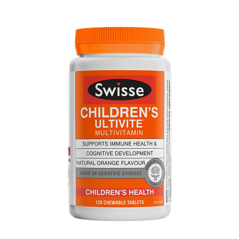 澳洲Swisse儿童复合维生素咀嚼片120片