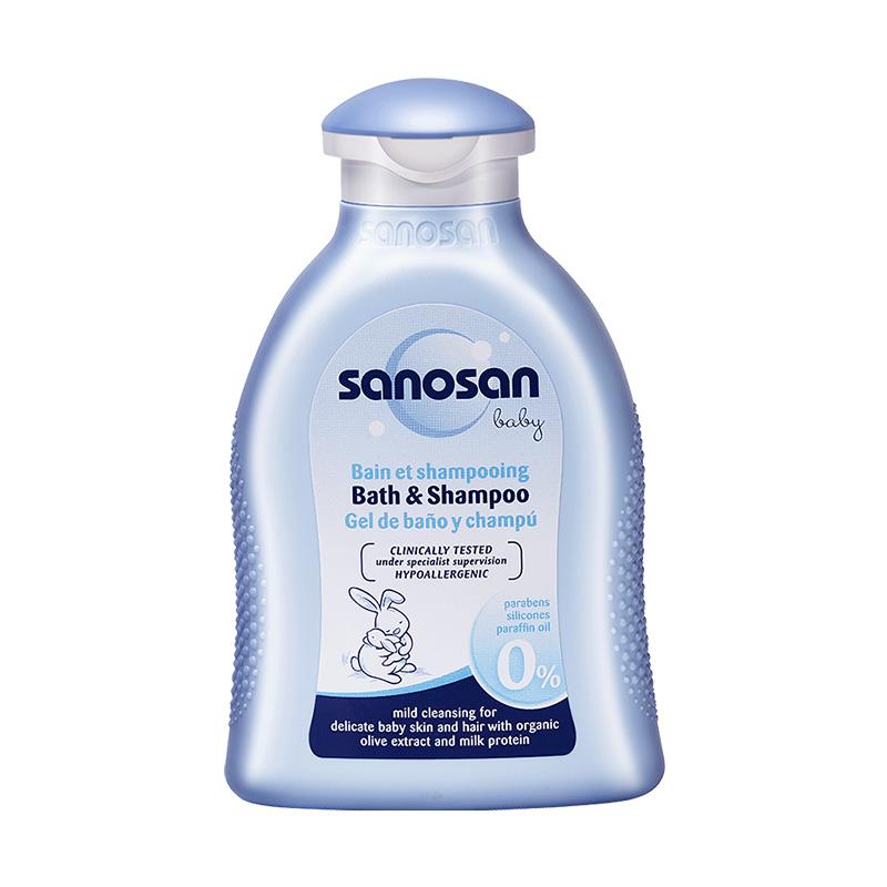 德国 Sanosan 哈罗闪婴儿净护二合一洗发沐浴露 200ml