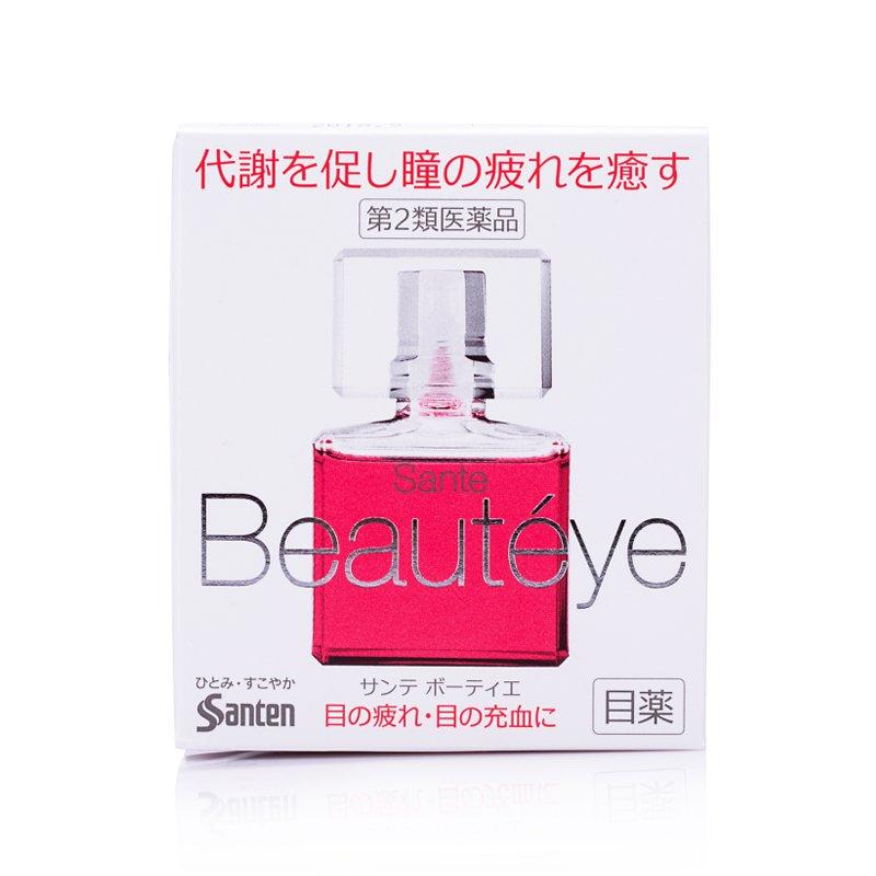 【保濕改善紅血絲】Santen參天 Beauteye眼藥水 帶玫瑰花香 12ml/盒