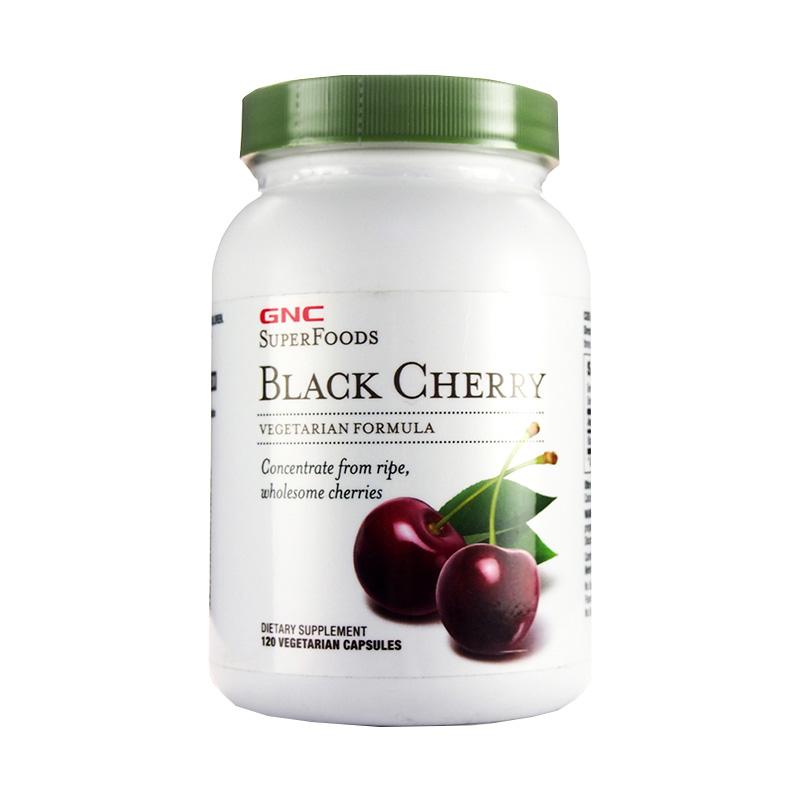 【降低尿酸 缓解痛风】美国GNC健安喜 黑樱桃精华胶囊120粒