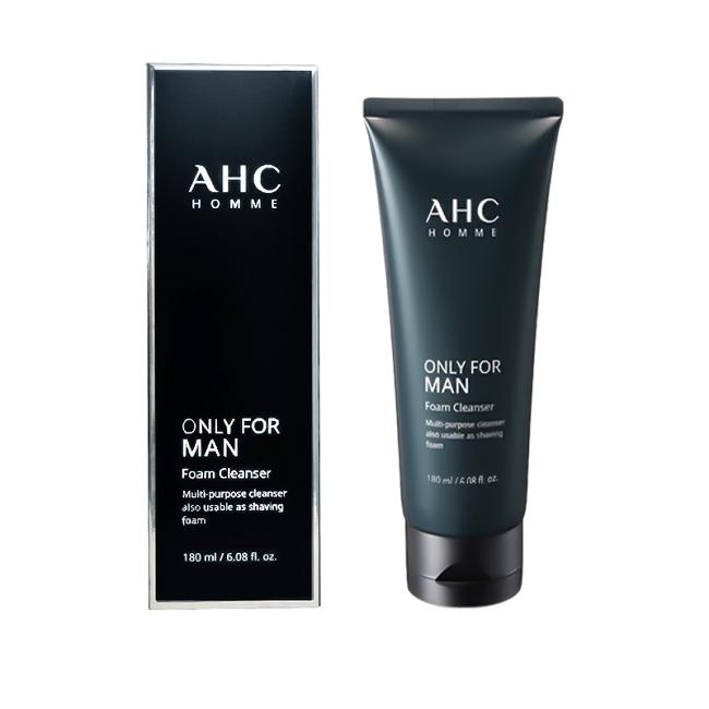 【深層清潔 清爽不緊繃】韓國AHC男士洗面奶控油祛痘去黑頭美白180ml