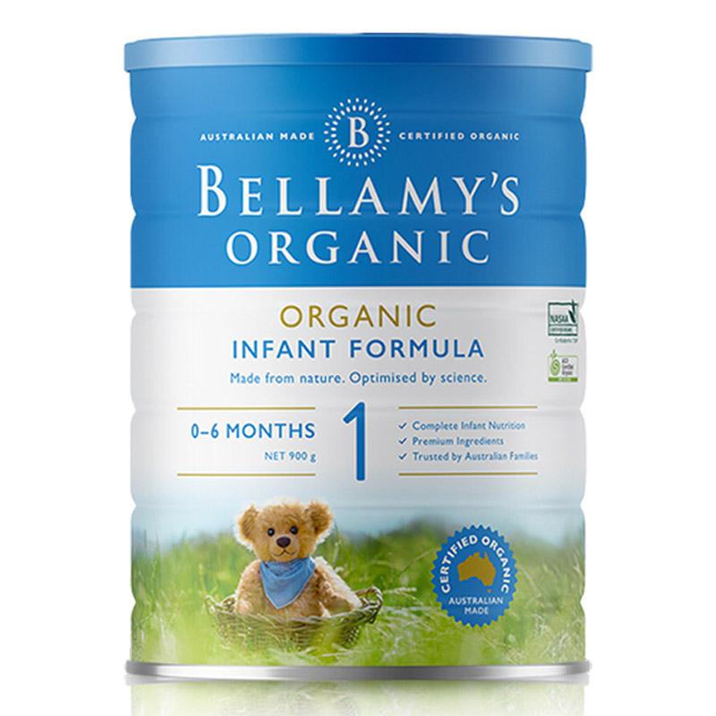 Bellamys贝拉米有机婴儿配方奶粉1段900g