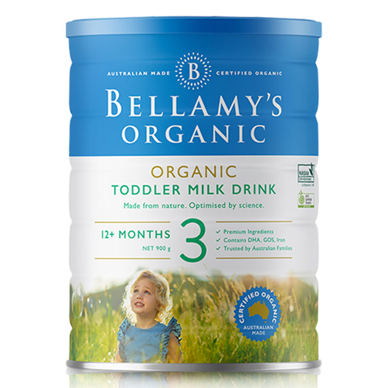 Bellamys贝拉米有机婴儿配方奶粉3段900g